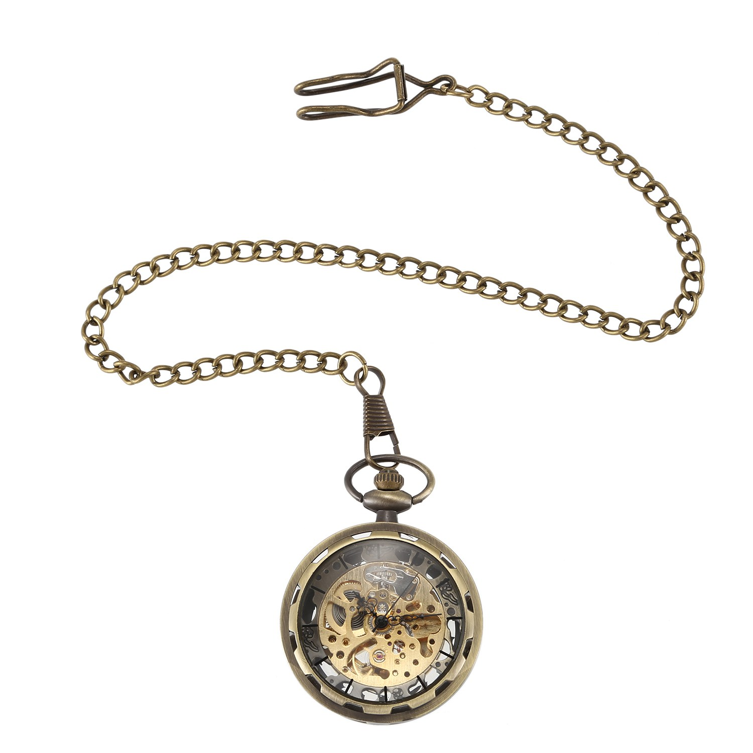 Mechanical Pocket Watch Steampunk Retro Luxury Pocket Watch Men'S And Women'S Fashion Pocket Watch