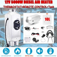 5KW 12V Metal Car Trailer Heater Diesel Air Heater Parking Heater 10L Tank and Remote Control LCD Monitor For Car Truck Boat