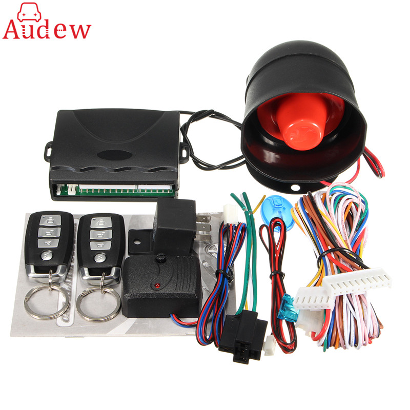 315 MHz-433.92 MHZ système d'alarme de sécurité de voiture à sens unique avec 2 télécommandes clés capteur de choc alerte sirène 2 télécommande