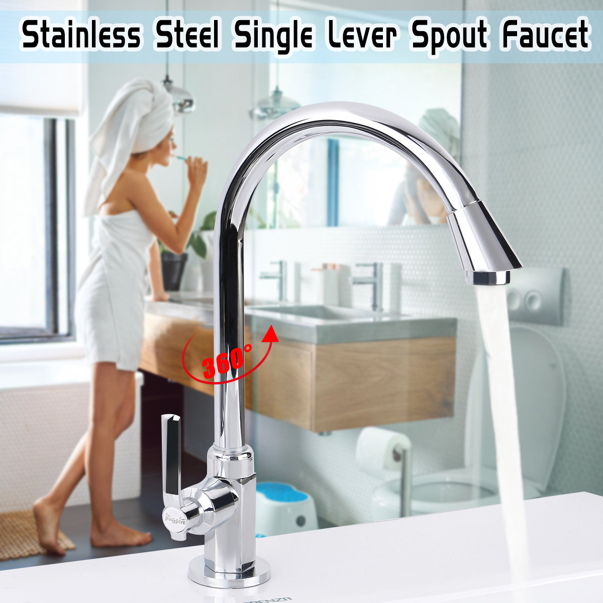Bathroom Faucet Basin Plumbing Parts 360 Degree Rotation Kitchen Filter Faucet Single Handle Sink Faucets Chrome Tap Brass