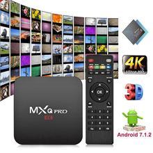 MXQ PRO casa equipo de Video Android S905W Quad Core 2G + 16G Smart TV Box 4 K x 2 K WIFI Smart receptores de TV Set Top Box Media Player