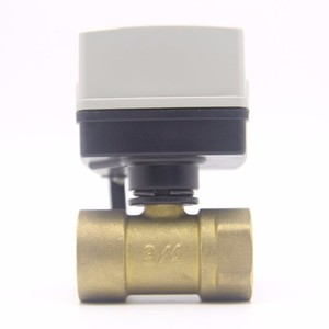 Image 2 - Small sized Motor driven Globe electric water motorized ball 2 way Valve Warm Electricity Action Support Customized Brass