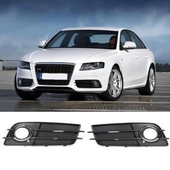 VODOOL 2 Pcs Xe Phía Trước Bội Thu Sương Mù Ánh Sáng Grill Chrome Vòng Màu Đen Sương Mù Đèn Bìa Lưới Tản Nhiệt Xe Styling Đối Với Audi a4 S4 Thể Thao 2009-2012