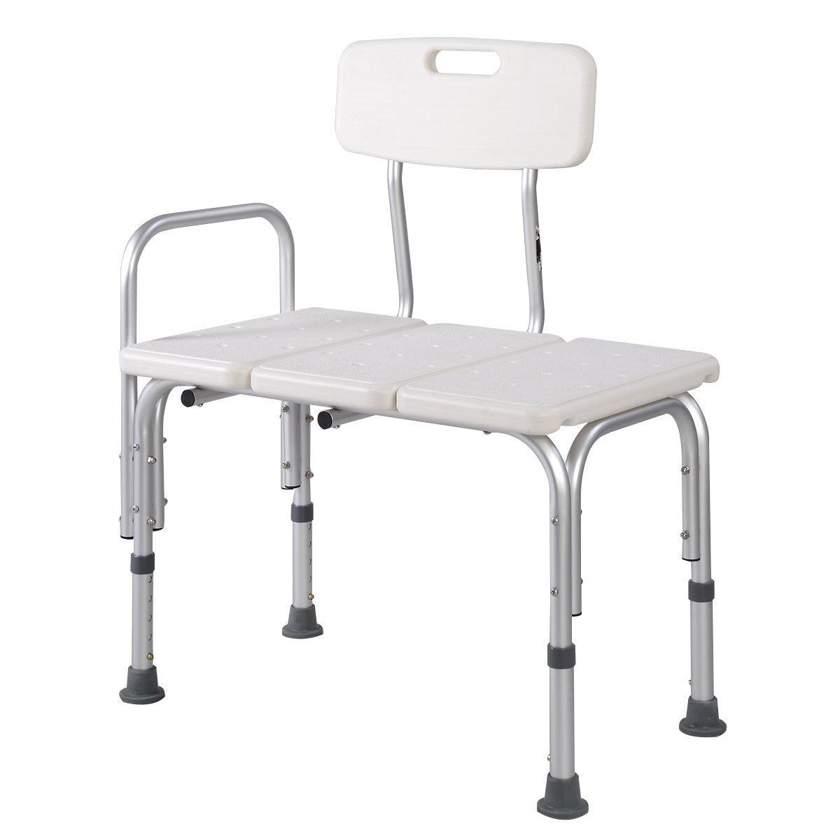 """17,8 ~ 22,5 """"einstellbare Höhe Bade Aids Medizinische Dusche Stuhl Sitz Hocker Badezimmer Bad Transfer Bank Aid Aluminium 300 £"""
