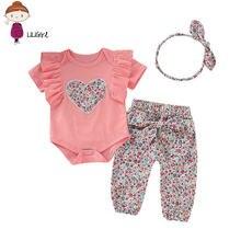 Комплект одежды для новорожденных девочек футболка с коротким