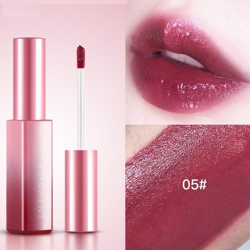 6 Colors Rouge Dyeing Blush Lipstick Mirror Surface Lip Gloss Lasting Moisturizing Liquid Lip Gloss Korean Makeup TSLM2