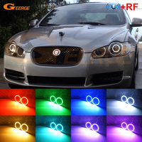 For JAGUAR XF 2009 2010 2011 XENON HEADLIGHT Excellent RF Bluetooth APP Controller Multi Color RGB LED Angel Eyes kit
