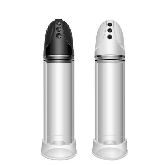 Bomba eléctrica de pene Dick Dispositivo de alargamiento eréctil, de pene ampliadora eréctil, alargamiento Juguetes sexuales para hombres masturbación Copa productos para adultos negro 69cce0