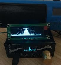 """2 """"인치 OLED 음악 스펙트럼 디스플레이 분석기 MP3 자동차 PC 앰프 오디오 레벨 표시기 음악 리듬 분석기 VU 미터 큰 화면"""