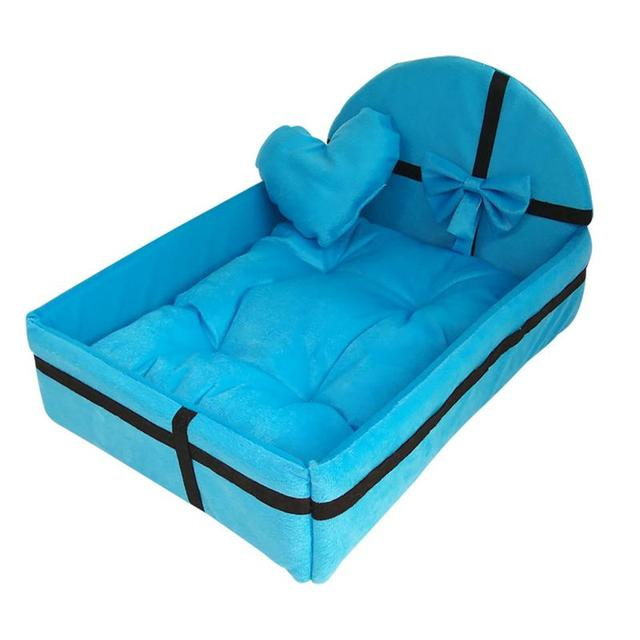 Pet Dog House Dog Bed Nest With Mat Cute Plush Cushion Winter Warm Small Medium Dogs Removable Mattress Cat Bed Dog Puppy Kennel 2