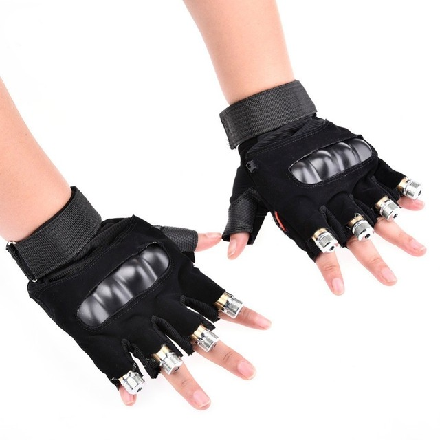 1Pcs Red Green Laser Gloves Dancing Stage Show Stage Gloves Light With 4 pcs Lasers and LED Palm Light For DJ Club/Party/Bars 3