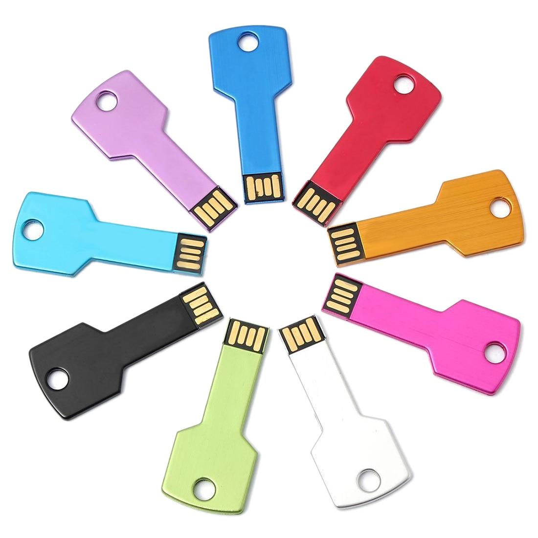 Metal Key USB Thumb Storage Memory Stick Flash Drive 1GB U Disk