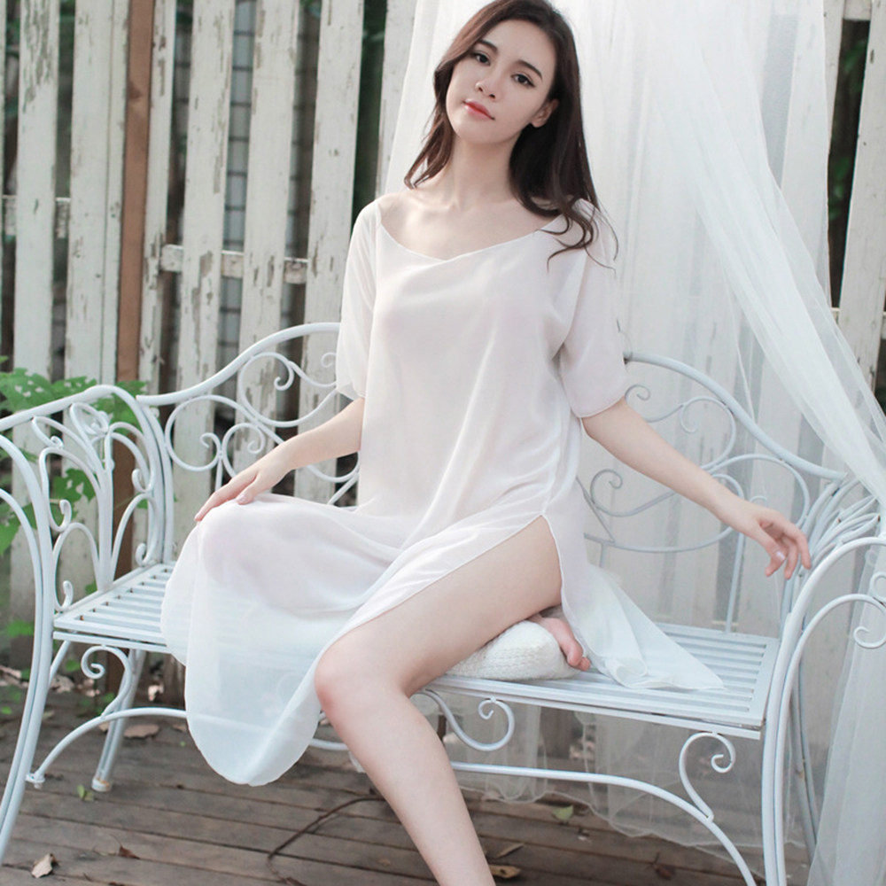 Underwear Fashion Women Women's Sleep & Lounge Brassiere Sling Suit   Nightgowns   &   Sleepshirts   Lace Hot Sale White Bra