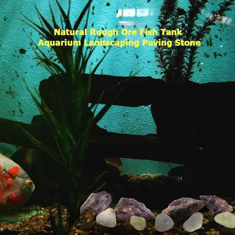 100g Jade/Amethist Natuurlijke Ruwe Erts Aquarium Aquarium Landscaping Tuin Decoratie Straatsteen Natuurlijke Grondstoffen Stenen