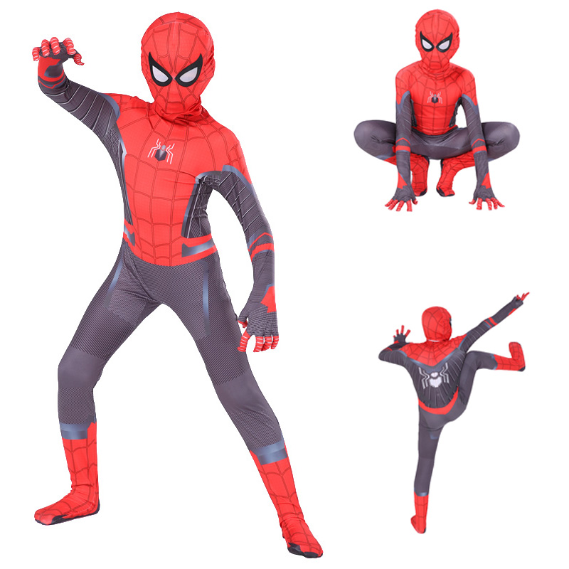 Kids Spiderman Far From Home Costume Peter Parker Cosplay Costume Boys Superhero Bodysuit Suit Jumpsuits Halloween Costume Child