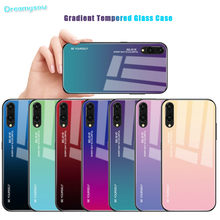 Funda de teléfono de vidrio degradado para Huawei P Smart 2019 P20 Pro Lite Mate20 Nova3i Honor V20 10 8X funda colorida 9X20 Pro(China)