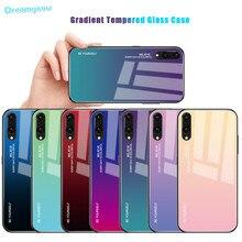 Градиентный стеклянный чехол для телефона Huawei P Smart 2019 P20 Pro Lite Mate20 Nova3i Honor 20s 10 8X 9X 20 Pro цветной чехол