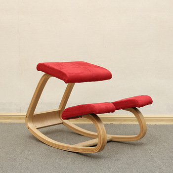 цена на Original Ergonomic Kneeling Chair Stool Home Office Furniture Ergonomic Rocking Wooden Kneeling Computer Posture Chair Design