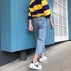 Новинка весны 2019 года джинсы для женщин Человек брюки девочек для мужчин костюмы повседневное синий плюс размеры Модные