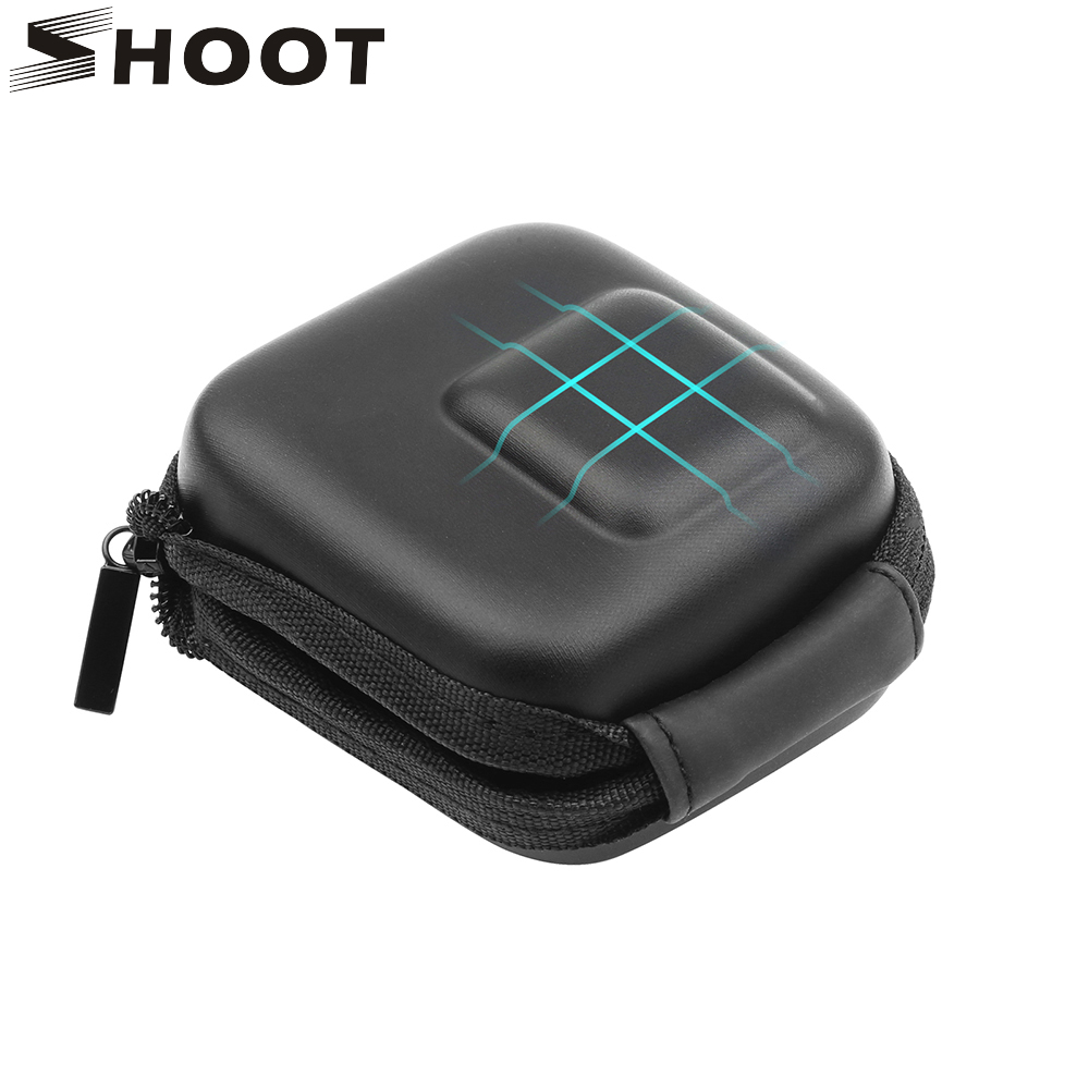 SHOOT Mini EVA Protective Case Bag For GoPro Hero 8 7 6 5 Black Silver White Camera Storage Box For Go Pro Hero 7 6 5 Accessory