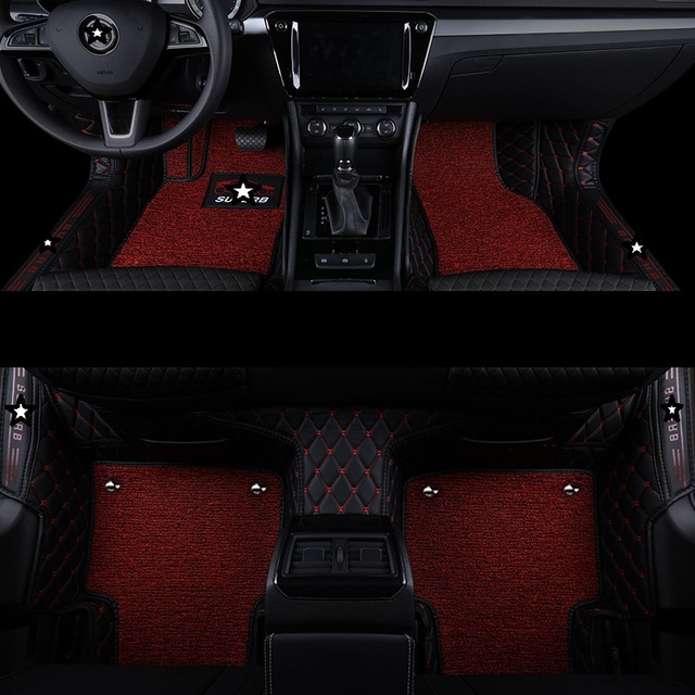 Styling Automovil Parts Modification Decorative Accessory Interior Auto Protector Car Carpet Floor Mats FOR Skoda Superb