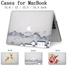 Pour étui pour ordinateur portable MacBook 13.3 15.4 pouces manchon pour MacBook Air Pro Retina 11 12 avec écran protecteur clavier Cove