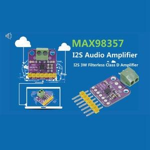 Image 5 - Max98357 I2S 3W Class D מגבר הבריחה ממשק Dac מפענח מודול סנן אודיו לוח עבור פטל Pi Esp32