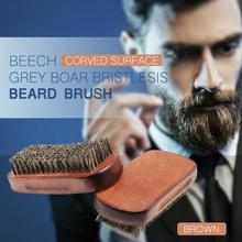 цена на New Men Shaving Brush Bristle Beard Comb Face Massage Mustache Brush Salon Beauty Care Tool Dropshipping