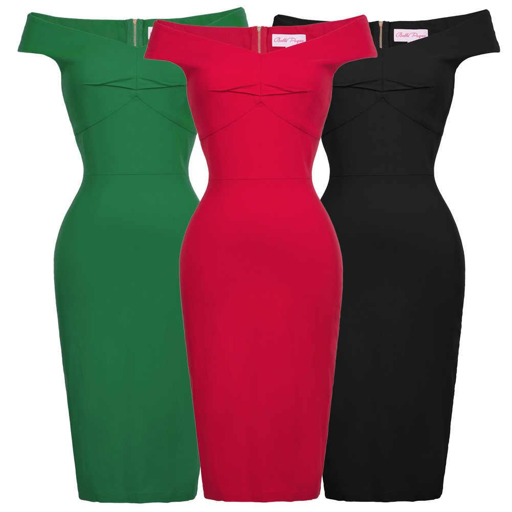... retro Summer classy V-neck red Pencil Dresses Women Sleeveless knee  length Bodycon Dress Backless 7a46e46e3baa