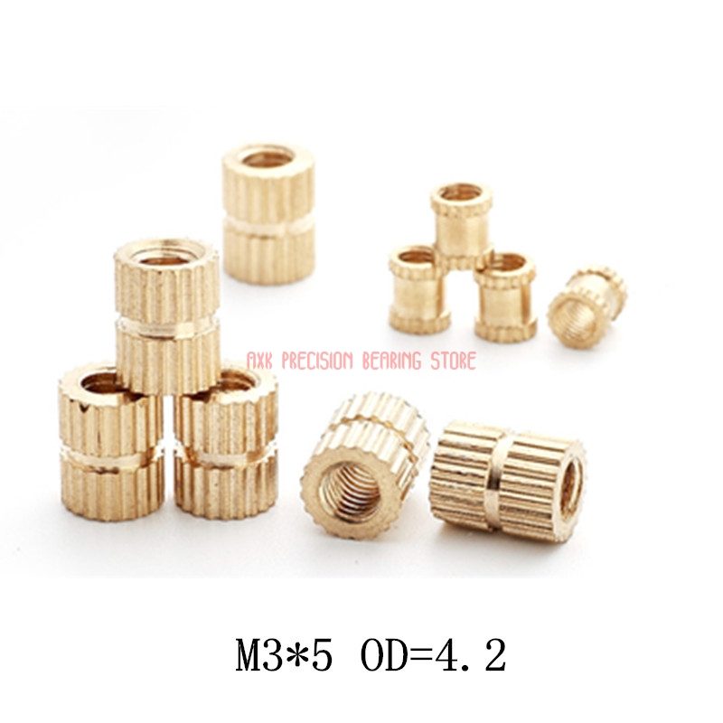 Length 12.7 mm Brand New 20 pcs BRASS INSERTS in Plastic in COLD PRESS M6