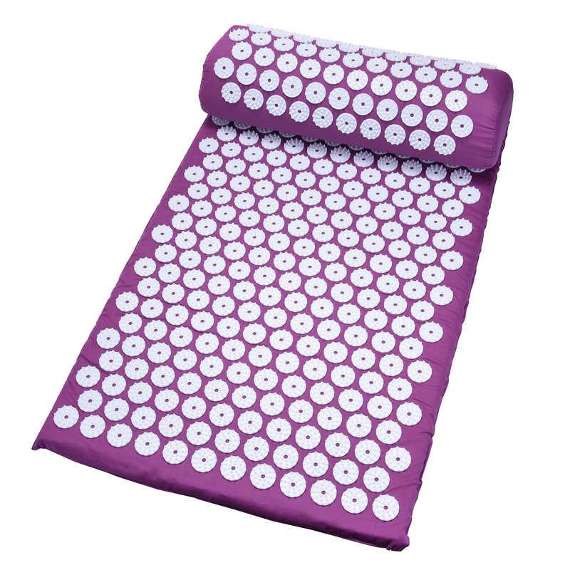Hot Pijat 26*17 Inch Tikar Pijat Akupresur Meredakan Rasa Sakit Tubuh Bersantai Spike Tikar Pijat Akupunktur Yoga Mat dengan Bantal