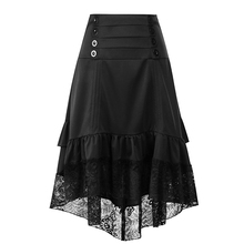YJSFG HOUSE Womens Fashion Skirts Stretch High Waist Gothic Swing Long Pencil Skirt A-line OL Lace Female Elegant Skirts stretch knit swing skirt