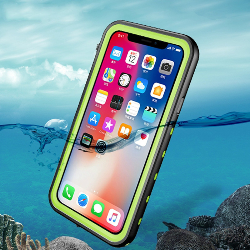 New case For Iphone X Waterproof Case 360 Degree Protector Swimming Dive Cases For Iphone X Water Resistant Shockproof Fundas