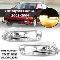 81200 02060 1 Pair Fog Light For Toyota Corolla 2003 2004 Car Bumper Lamp Clear Lens With Bulb High Brightness Replacement