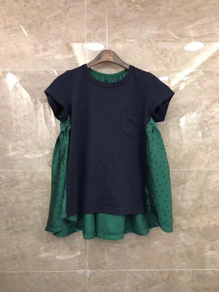 8018 Split In Jacke Punkt Welle Joker Kurzarm Qualität Joint China 2019 Druck Farbe Beste kleid T Rundhals Sommer Anzug 0x0w6qrT1