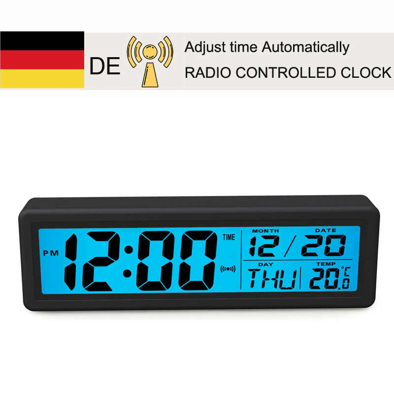 Pendulum Radio Controlled LCD Desk Clock