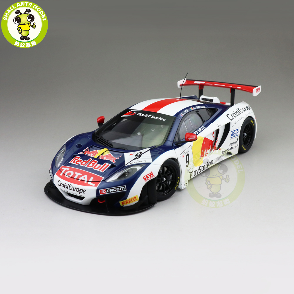 1 18 AUTOart 81342 MCLAREN 12C GT3 RED BULL No 9 Supercar Diecast Model car Toys