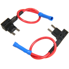 2Pcs/set 12/24V Fuse Holder Add A Circuit Tap Mini Blade ATO ATC with 10A Fuses