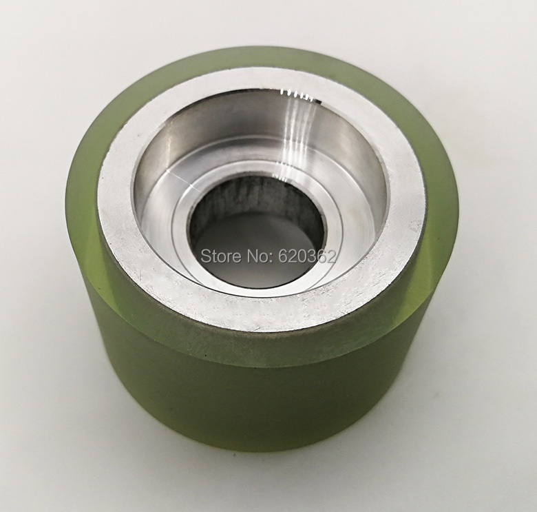 Diameter 50MM Length 50mm Strong Wearability Non-b PU Material Nylon Roller With Two Bearing Bore  12mm