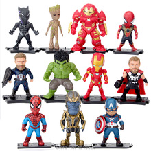 The Avengers 3 Superheroes Thanos Hulk Ironman Spiderman Action Figures Thor Black Panther Figurines Dolls Kids Toys for Boys