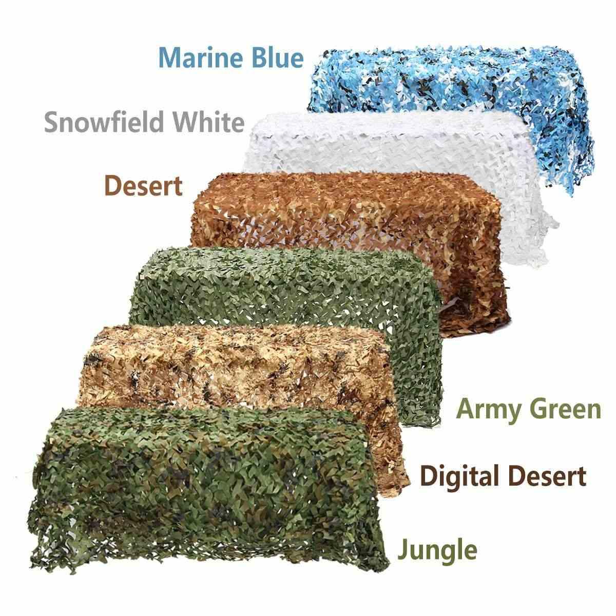 1x1m caça acampamento fotografia militar ao ar livre florestas do deserto blinds exército camuflagem militar net sol abrigo