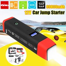 99800mAh 12V 2USB Start Best 1000A Peaks Current Car Jump Starter Starting Power Bank Auto Battery Portable Pack Booster