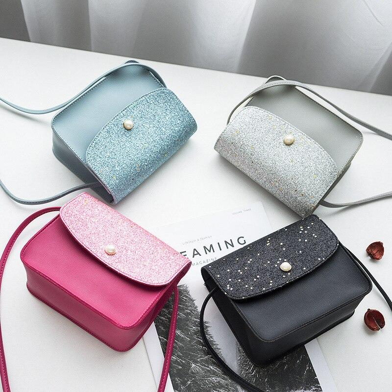 New Women Children Shoulder Bag Fashion Sequins Baby Girl Purse Handbag Cute Messenger Bag For Birthday Gift Kids Small Bag