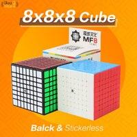 Кубик Moyu MF8 8x8x8 куб 8x8 Cubo Migico черный/Stickerless Профессиональный головоломки 8*8 Мини Cube Обучающие Детские игрушки