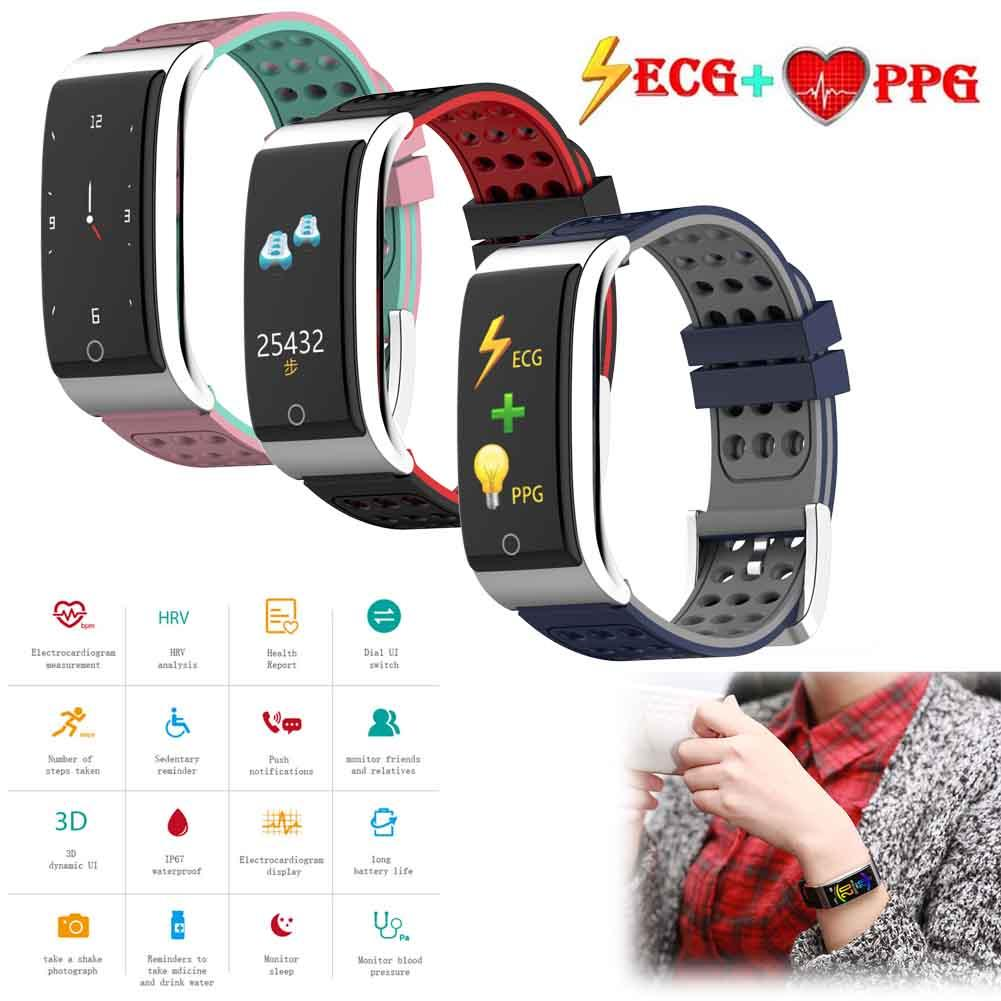 Permalink to ECG+PPG Smart Watch Bracelet Wristband Blood Pressure Heart Rate Monitor Sport Fitness Tracker for Elders Gift