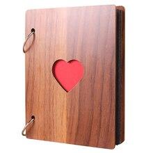 6 дюймов деревянный фотоальбом рост ребенка памяти жизнь фото рельеф книги книга для записей