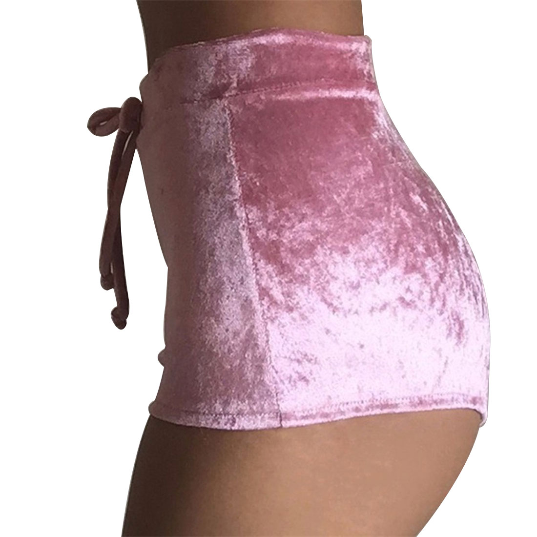 Women Pink Velvet Shorts Workout Flannel Short Pants Fitness Soft Sportwear in Shorts from Women 39 s Clothing