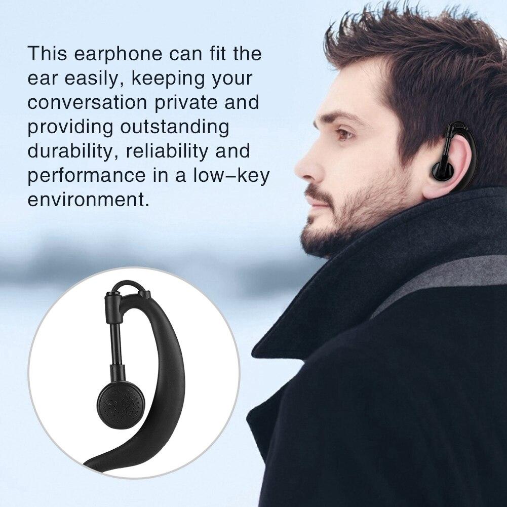1.5W Input G Type Black Earpiece Headset Earphone for Motorola XPR6000/6500/7000/7550/P8200/P8268