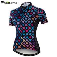цены Weimostar Quality Cycling Jersey Pro Team Women Short Sleeve mtb Bike Jersey Shirt Summer Ladies Bicycle Clothing Ropa Ciclismo
