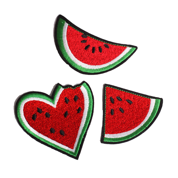 Home 130pcs Mixed Fruits Cherry Watermelon Strawberry Pineapple Fruit Embroidery Patches For Clothing Iron On Clothes Applique